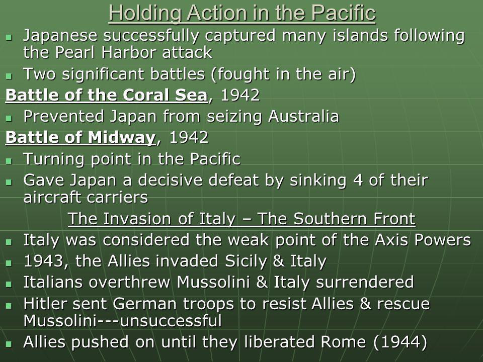 Holding Action in the Pacific