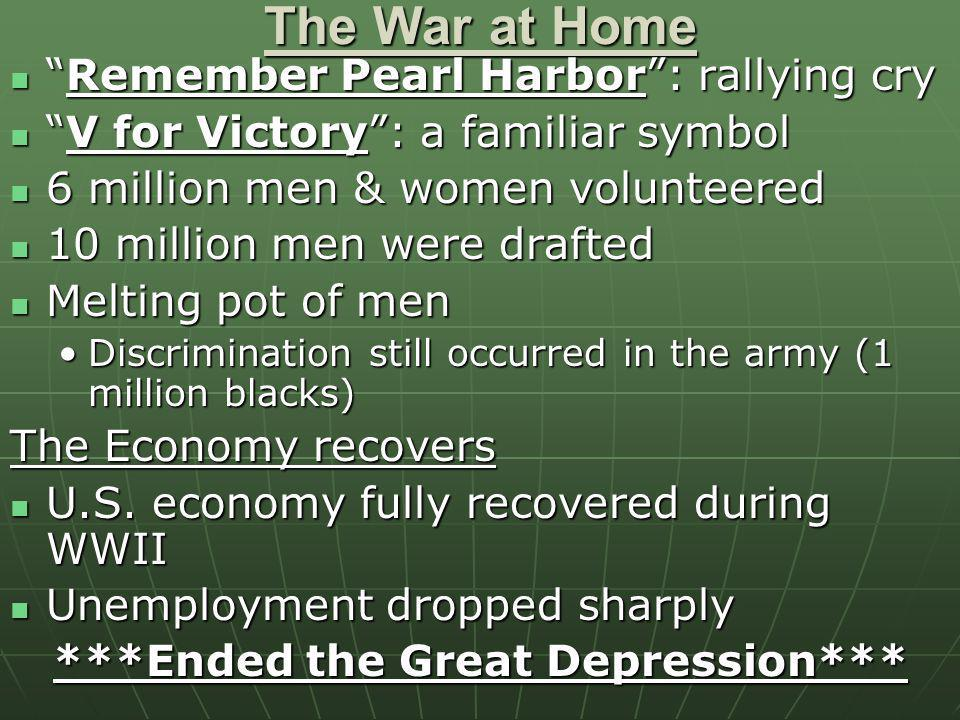 ***Ended the Great Depression***