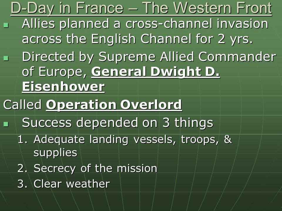D-Day in France – The Western Front