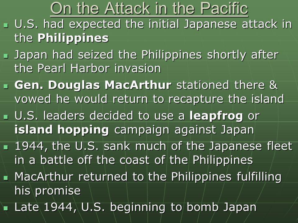 On the Attack in the Pacific