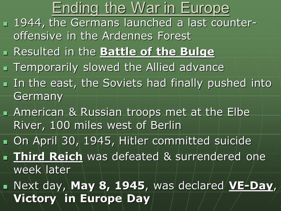 Ending the War in Europe