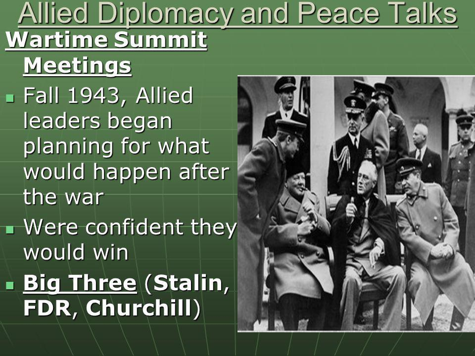 Allied Diplomacy and Peace Talks