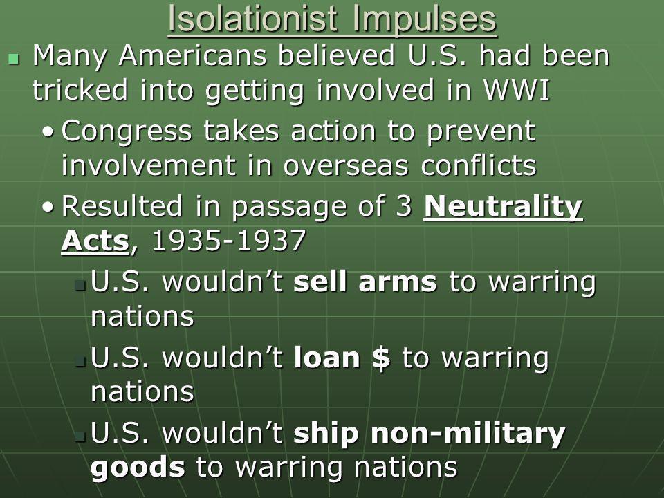 Isolationist Impulses