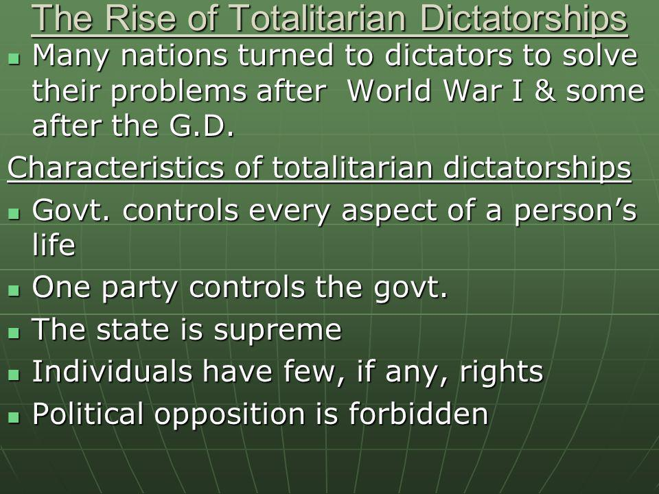 The Rise of Totalitarian Dictatorships