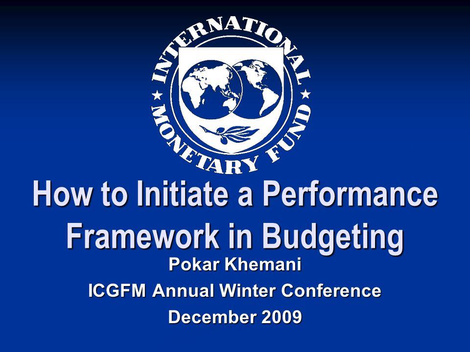 How to Initiate a Performance Framework in Budgeting
