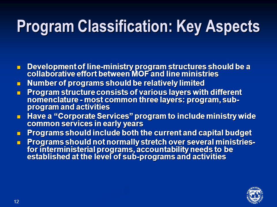 Program Classification: Key Aspects