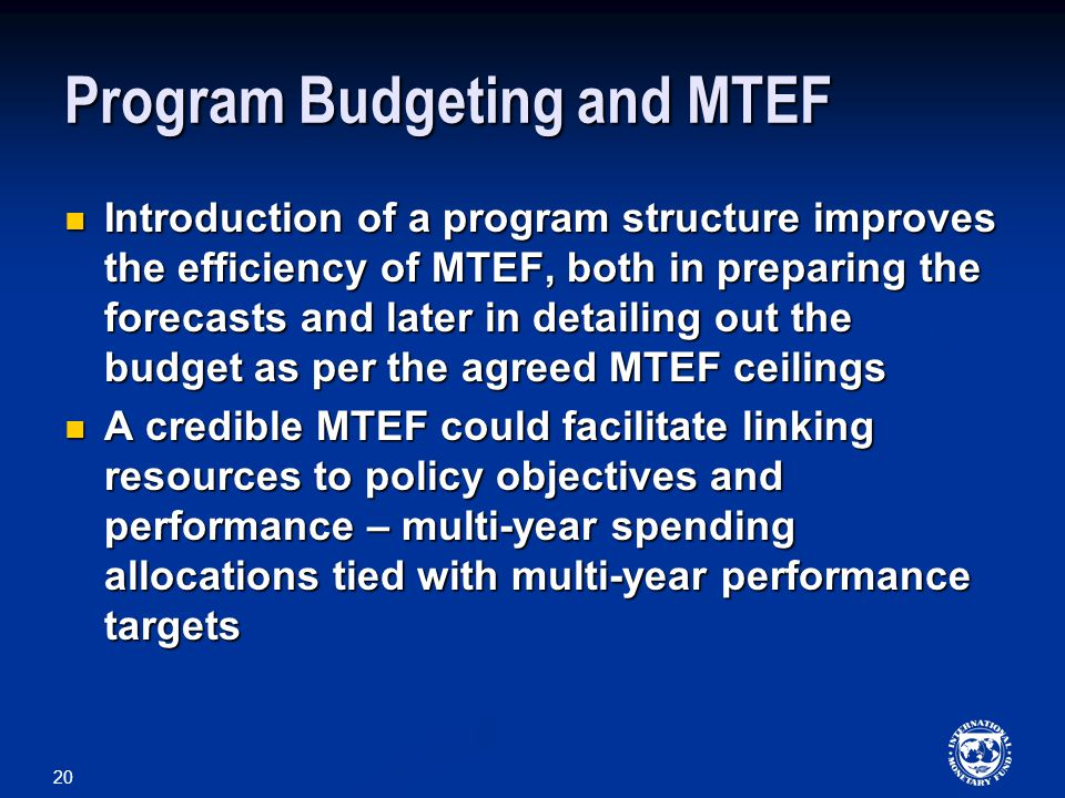 Program Budgeting and MTEF