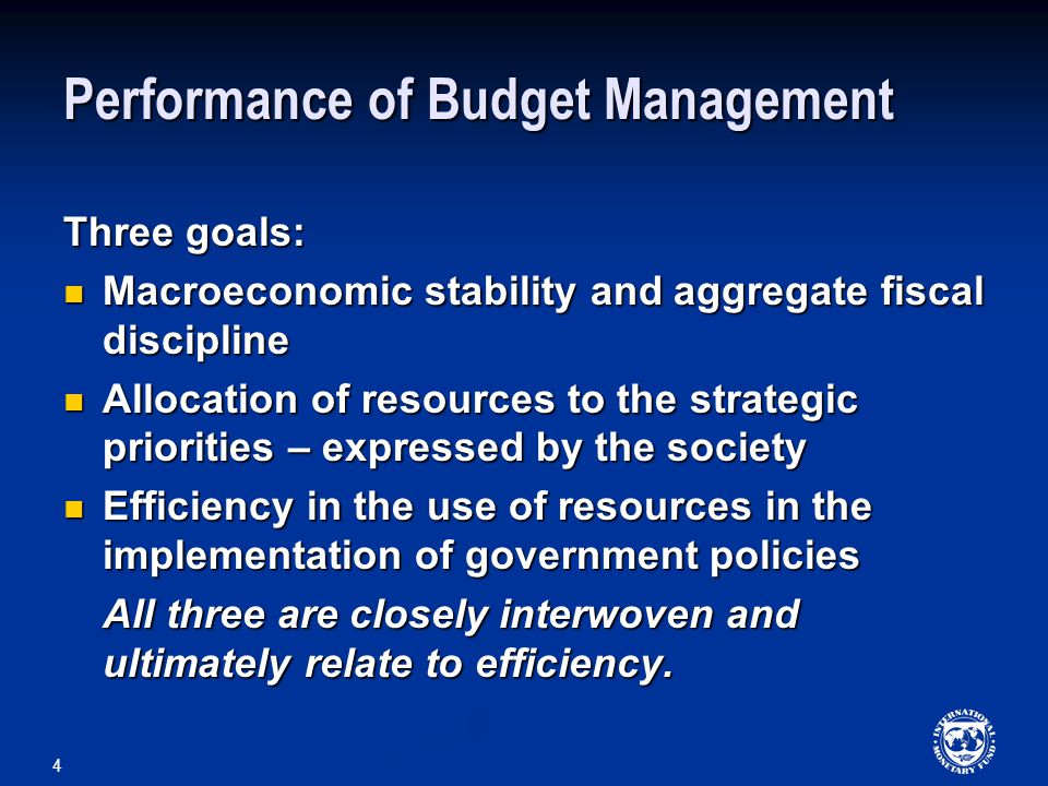 Performance of Budget Management