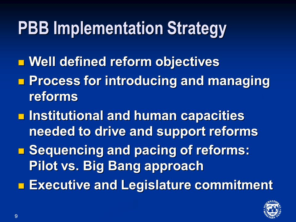 PBB Implementation Strategy