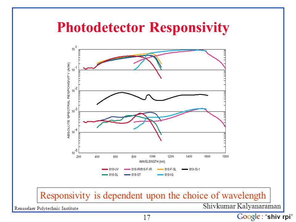 Photodetector Responsivity