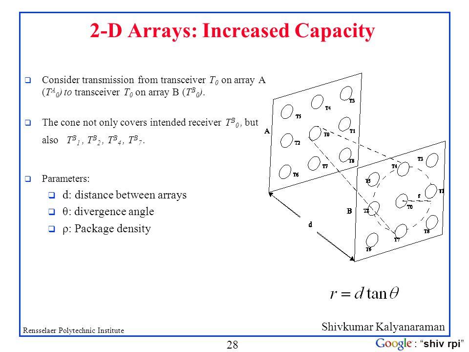 2-D Arrays: Increased Capacity