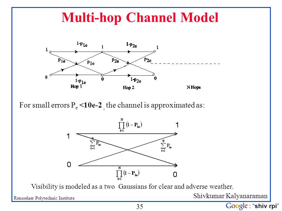 Multi-hop Channel Model