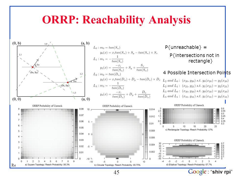 ORRP: Reachability Analysis