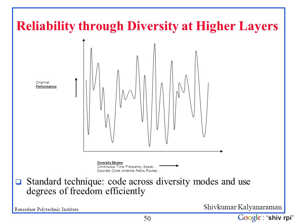 Reliability through Diversity at Higher Layers