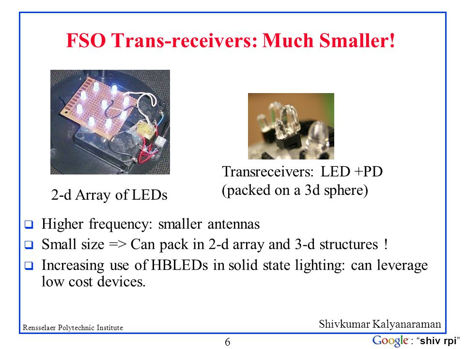 FSO Trans-receivers: Much Smaller!