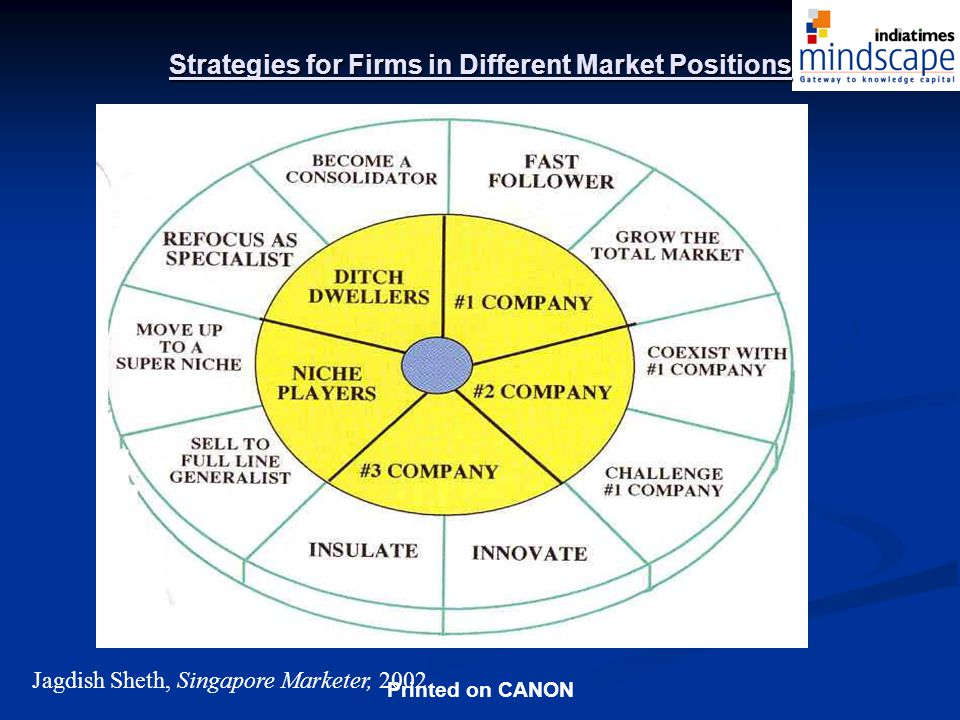 Strategies for Firms in Different Market Positions