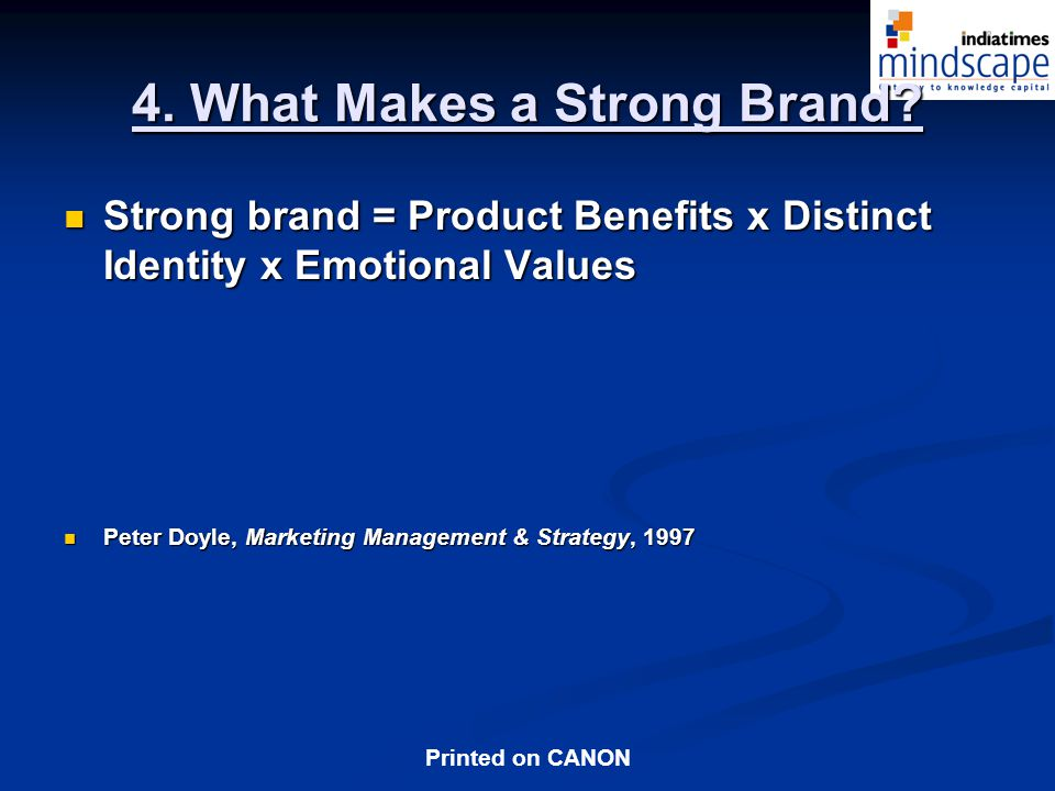 4. What Makes a Strong Brand