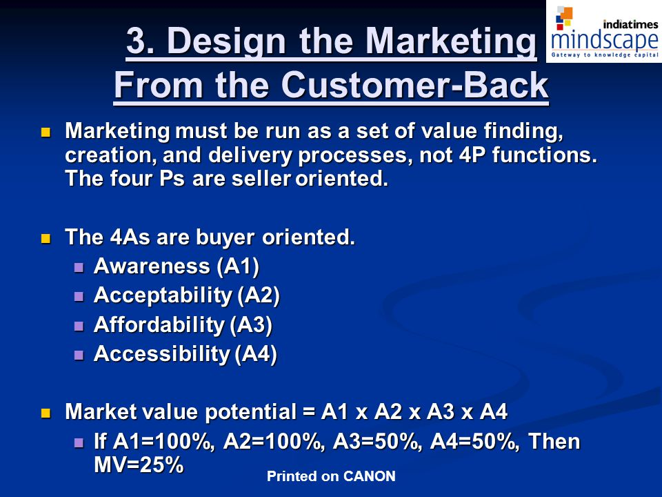 3. Design the Marketing From the Customer-Back