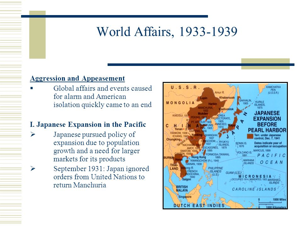 World Affairs, 1933-1939 Aggression and Appeasement
