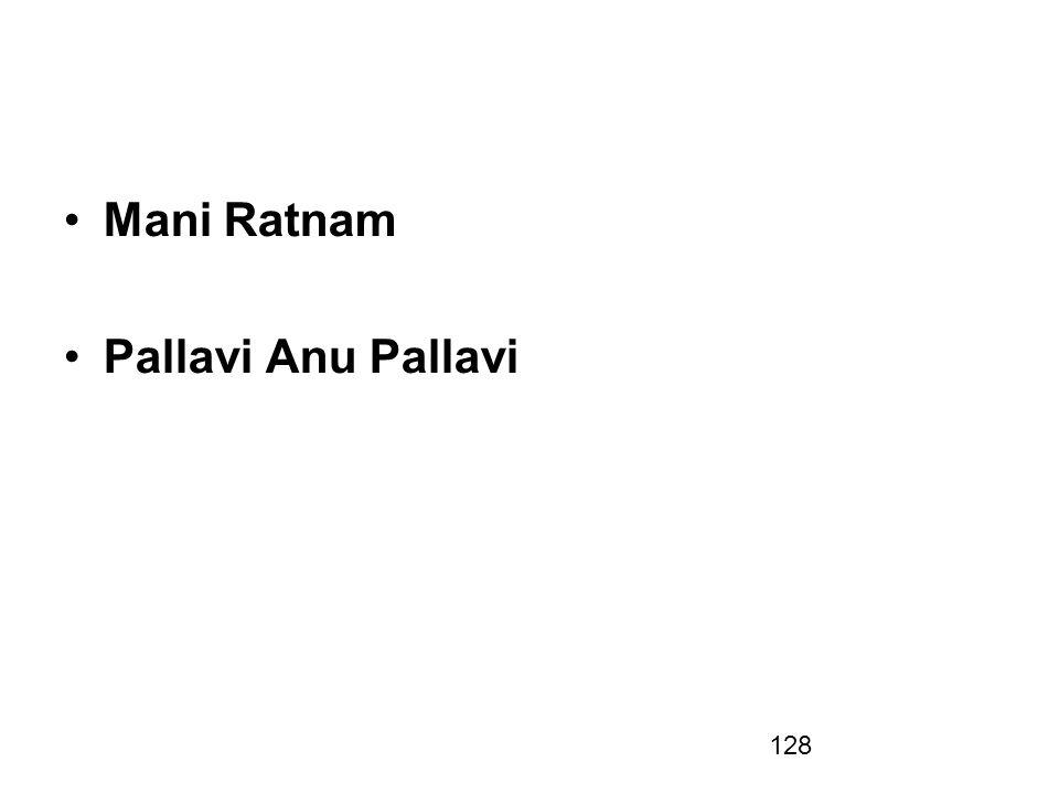 Mani Ratnam Pallavi Anu Pallavi