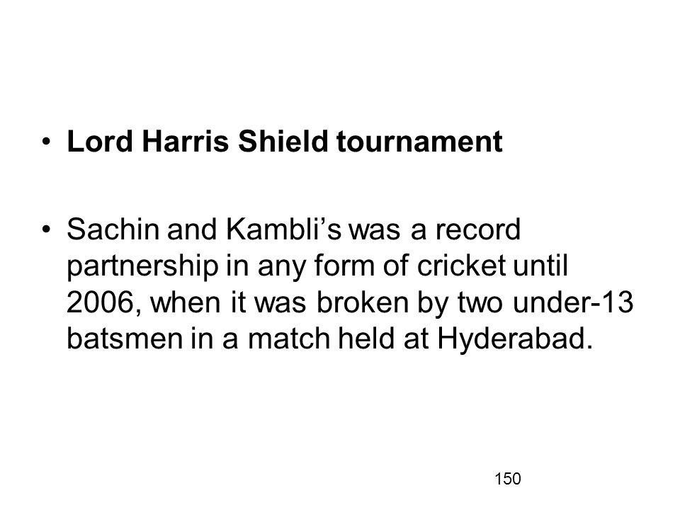 Lord Harris Shield tournament