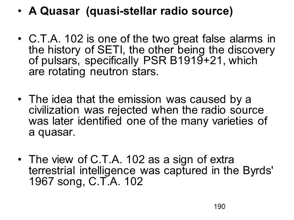 A Quasar (quasi-stellar radio source)