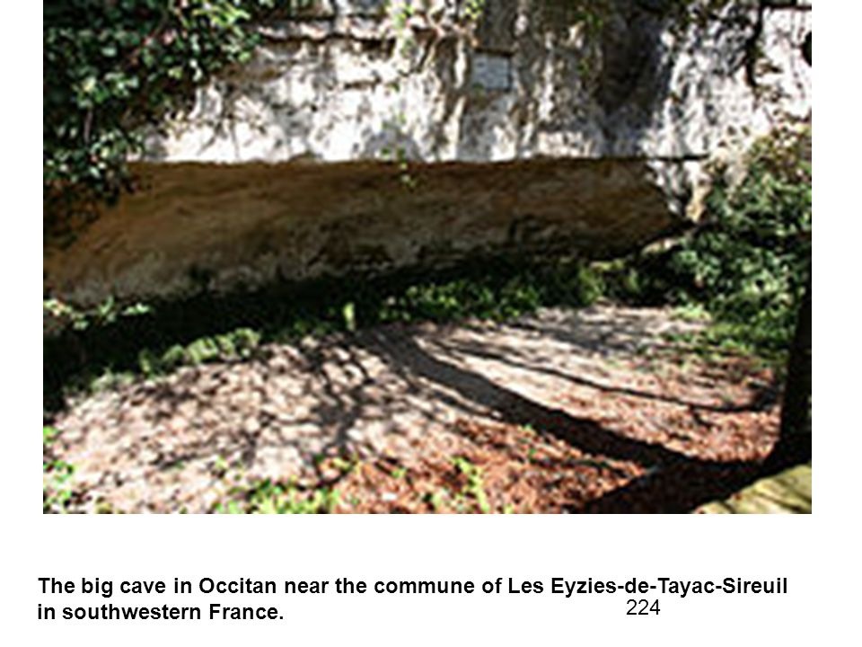 The big cave in Occitan near the commune of Les Eyzies-de-Tayac-Sireuil in southwestern France.
