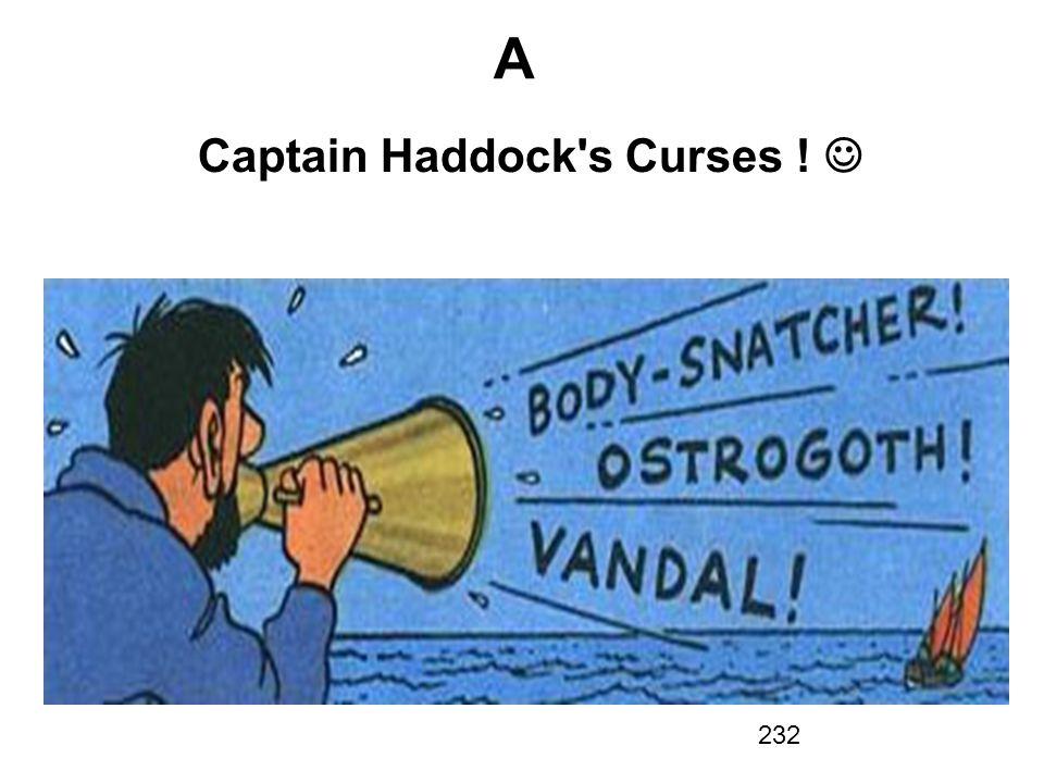 Captain Haddock s Curses ! 