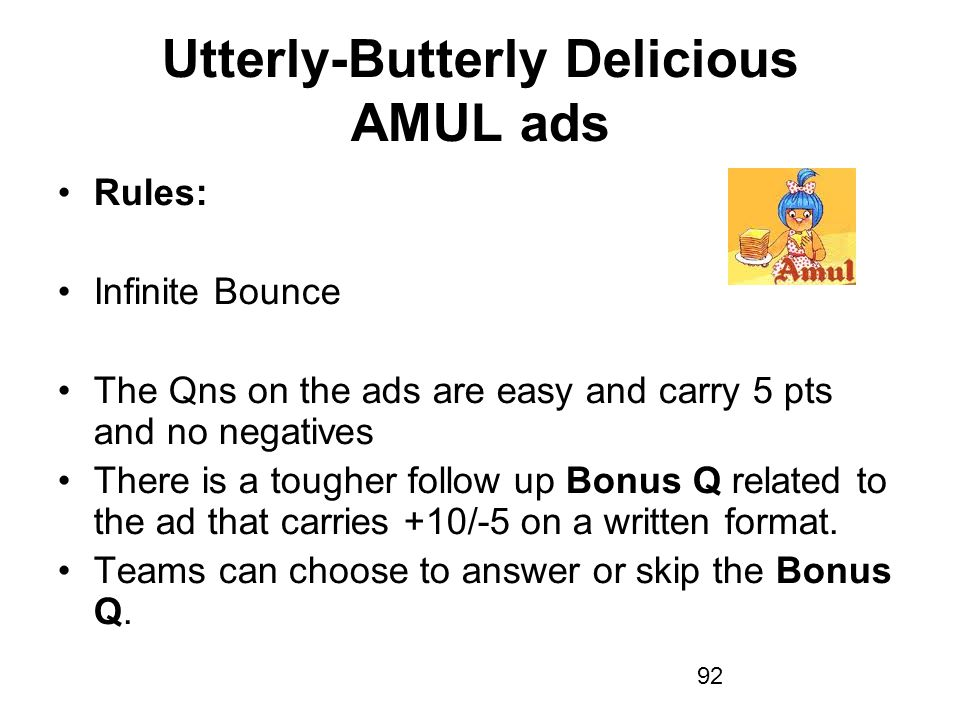 Utterly-Butterly Delicious AMUL ads