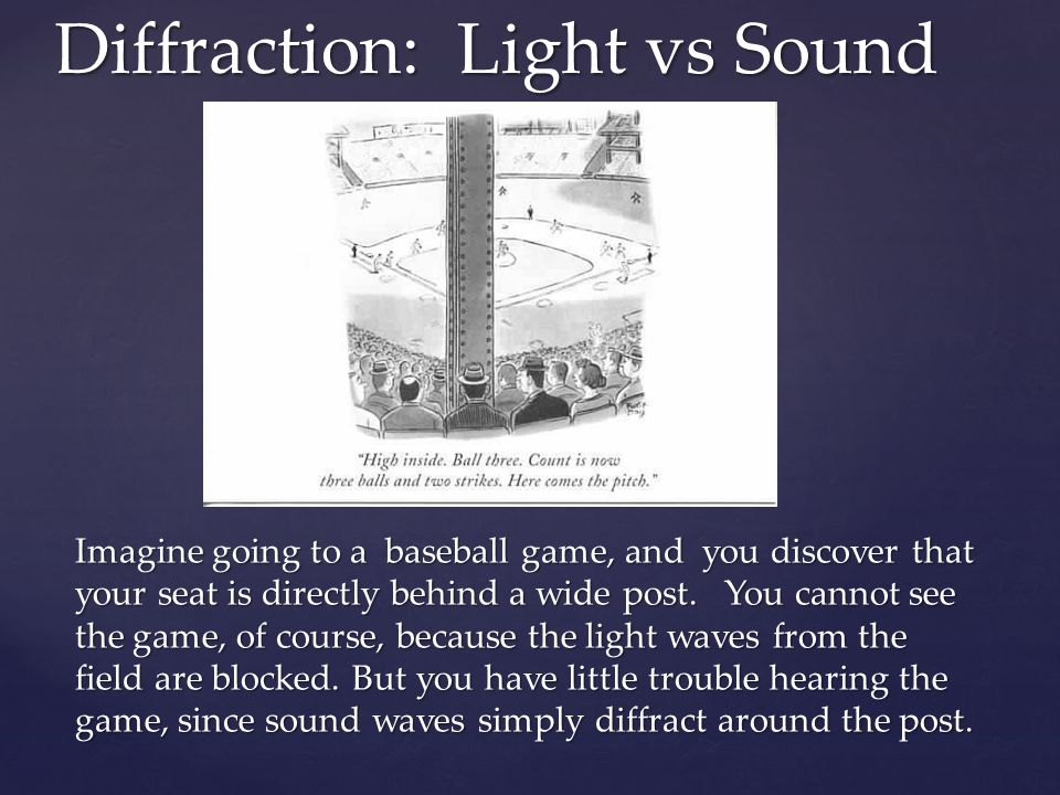 Diffraction: Light vs Sound
