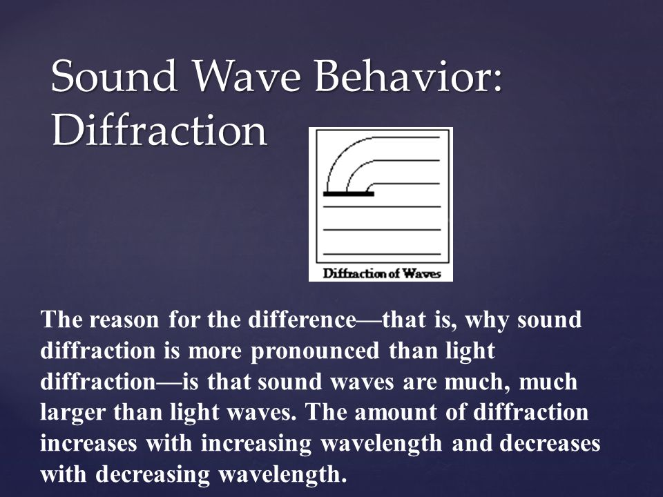 Sound Wave Behavior: Diffraction