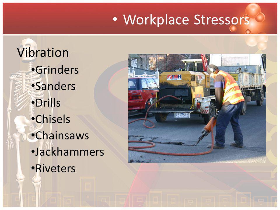 Workplace Stressors Vibration Grinders Sanders Drills Chisels