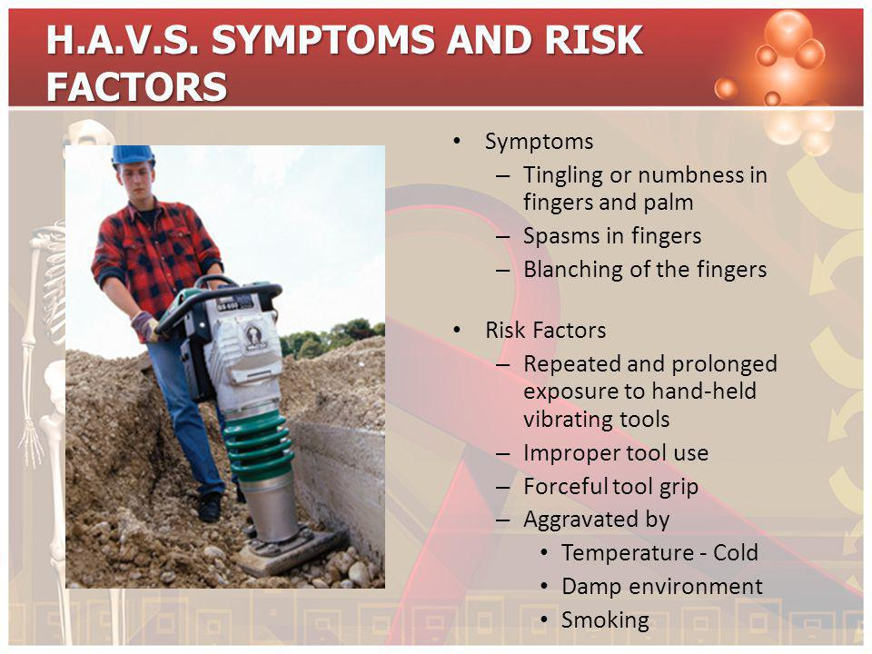 H.A.V.S. SYMPTOMS AND RISK FACTORS