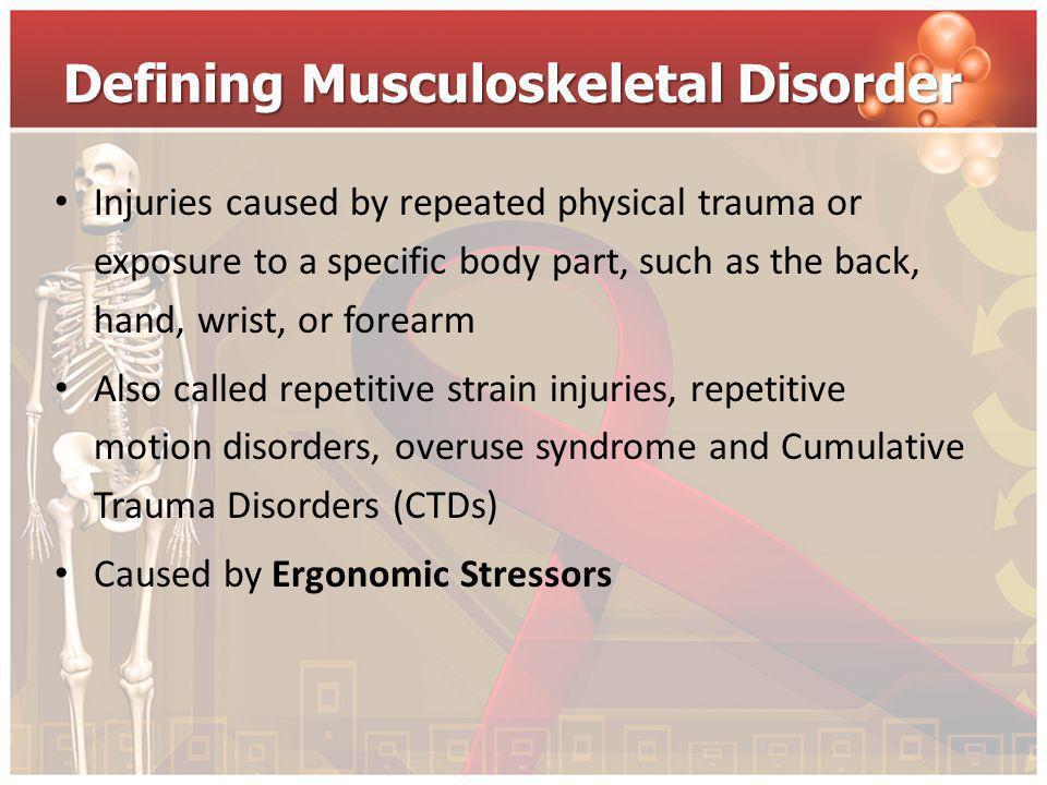 Defining Musculoskeletal Disorder