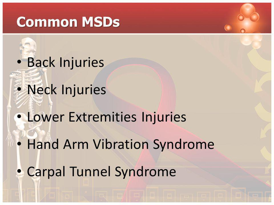 Lower Extremities Injuries Hand Arm Vibration Syndrome