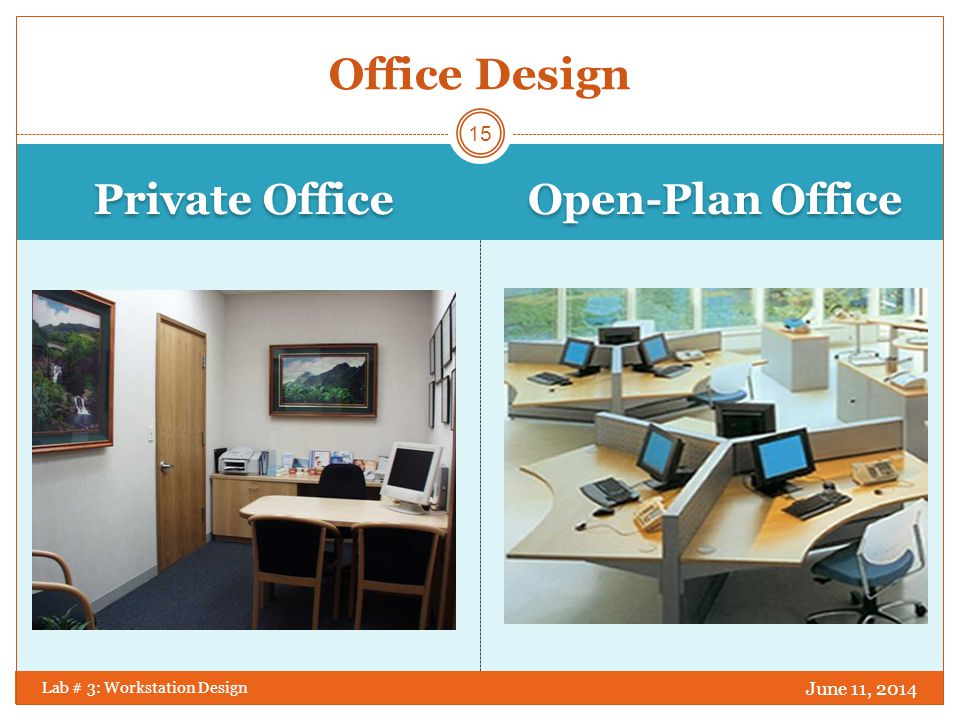 Office Design Private Office Open-Plan Office April 1, 2017