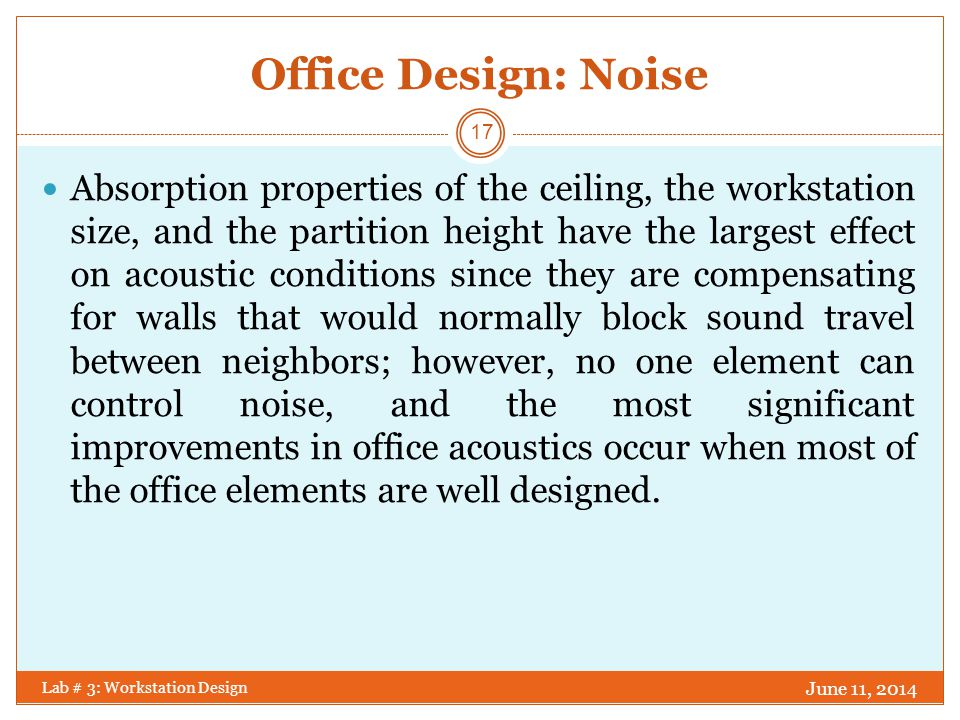 Office Design: Noise