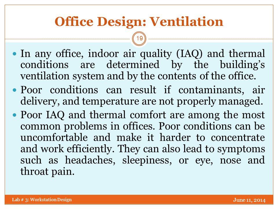 Office Design: Ventilation
