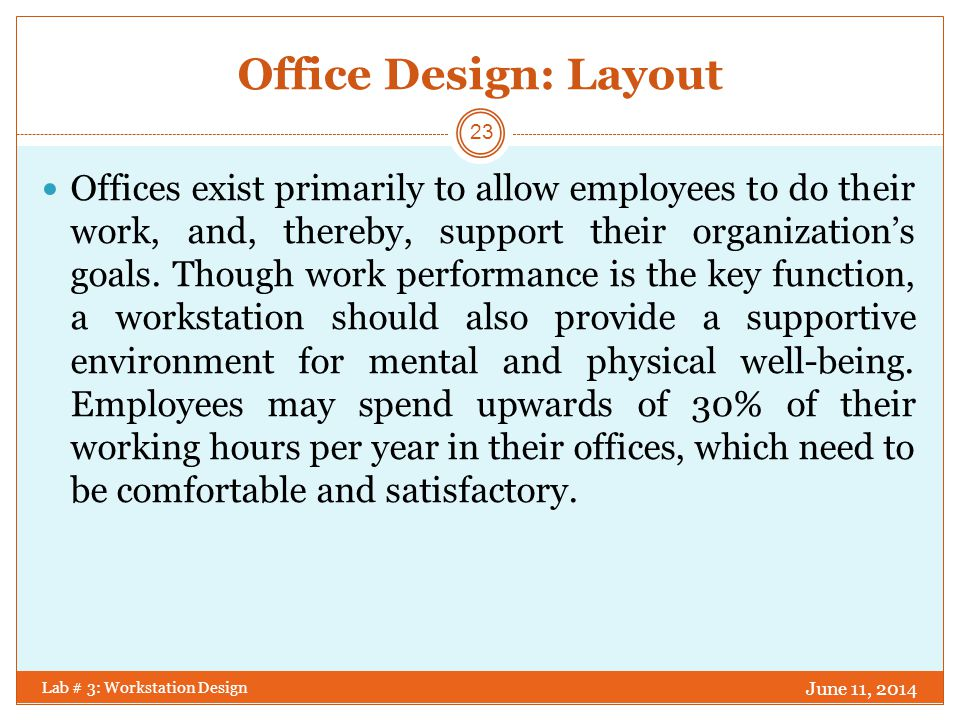 Office Design: Layout