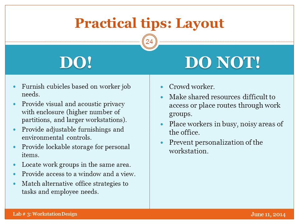 Practical tips: Layout