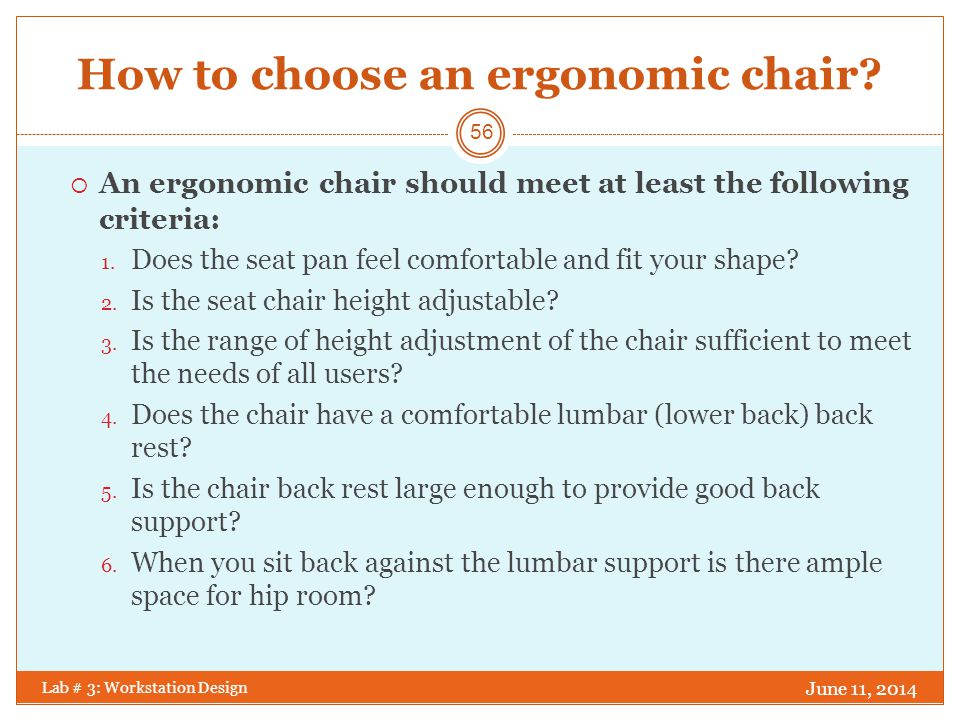 How to choose an ergonomic chair