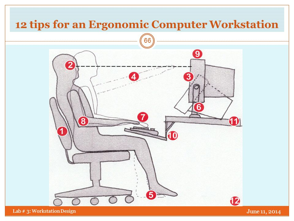 12 tips for an Ergonomic Computer Workstation