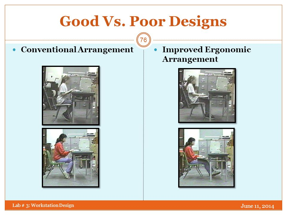 Good Vs. Poor Designs Conventional Arrangement