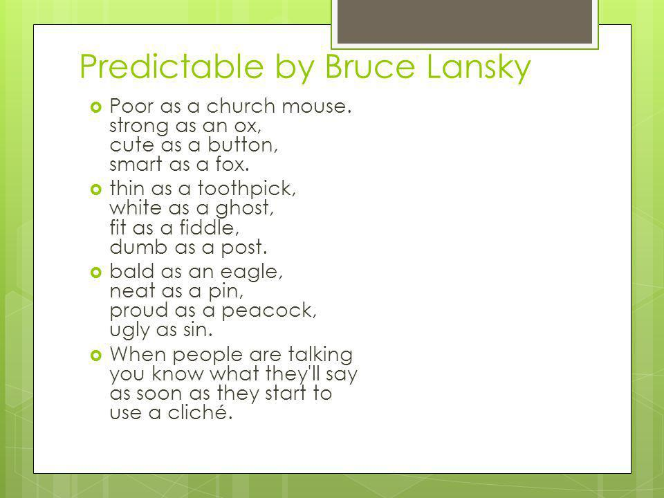Predictable by Bruce Lansky