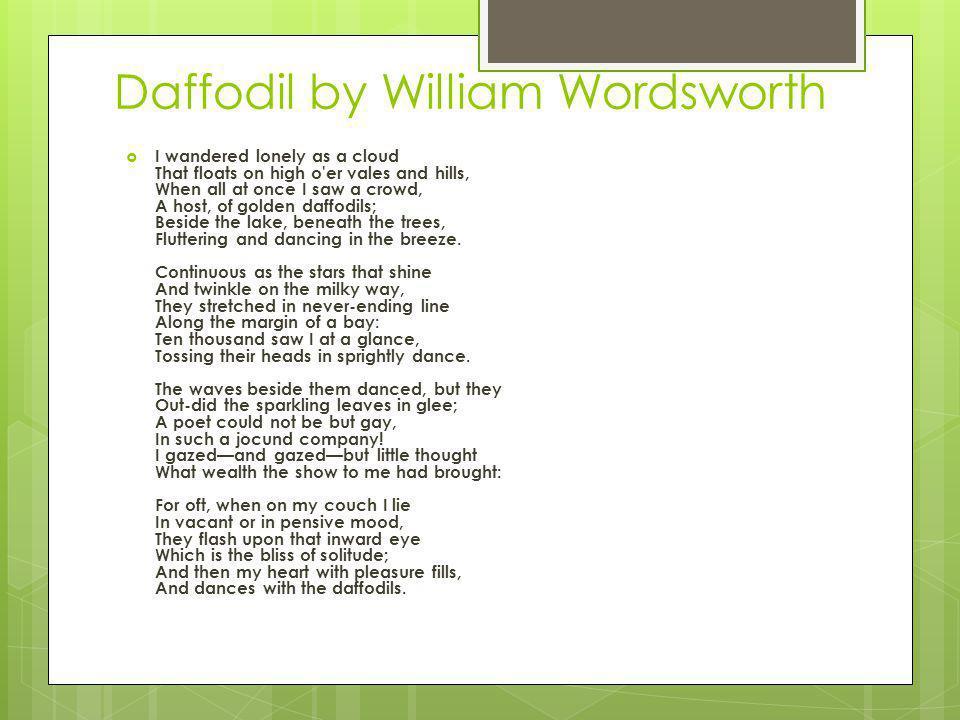 Daffodil by William Wordsworth