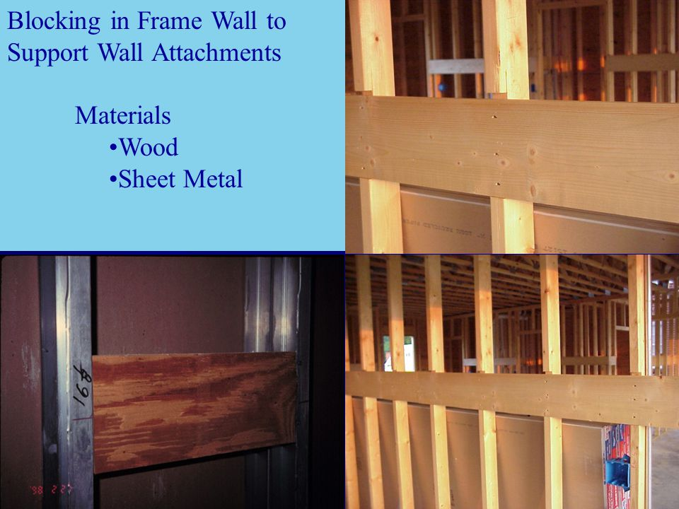 Blocking in Frame Wall to Support Wall Attachments