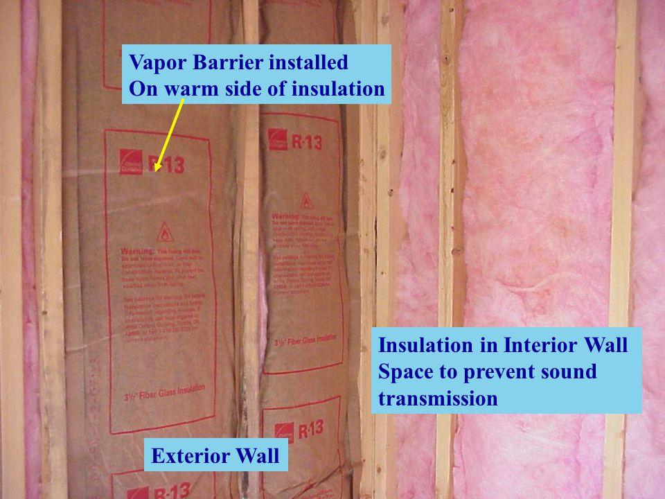 Vapor Barrier installed