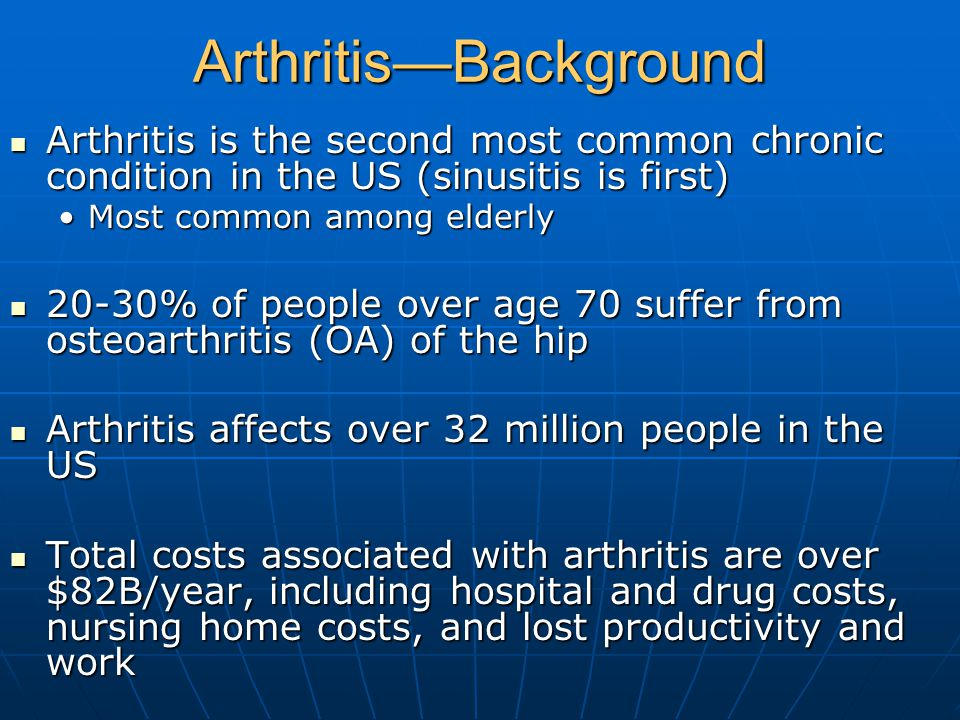 Arthritis—Background