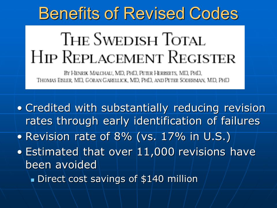 Benefits of Revised Codes