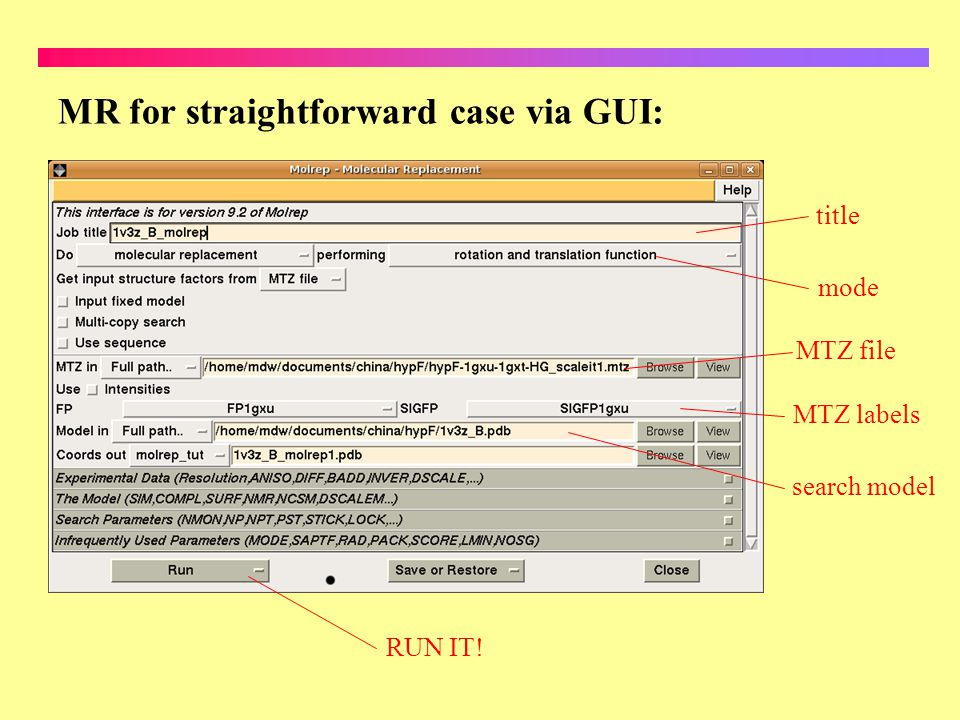 MR for straightforward case via GUI: